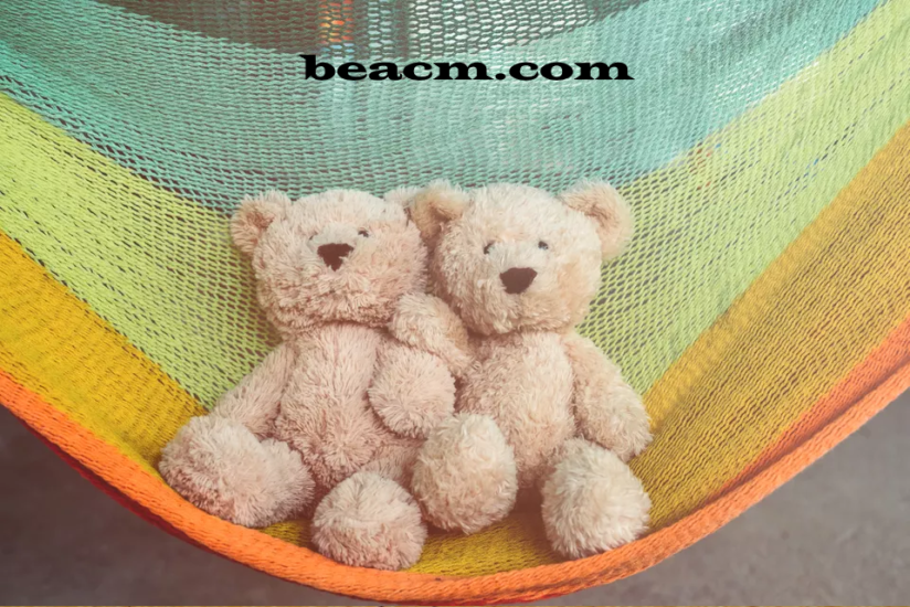 Free template for knitting a toy hammock