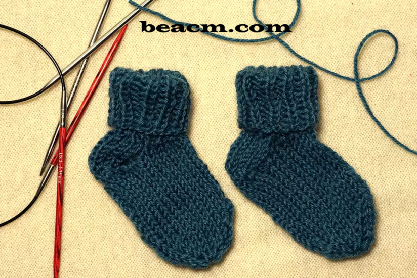 How to knit socks with two circular knitting needles
