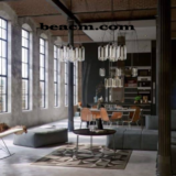 To create an industrial interior design